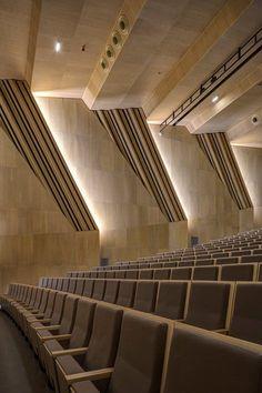 Music and Dance Centre, Soissons, 2015 - Henri Gaudin architecte Concert Hall Architecture, Auditorium Architecture, Classroom Architecture, Theatre Architecture, Architecture Design, Concept Architecture, Acoustic Architecture, Cultural Architecture, Hall Interior Design