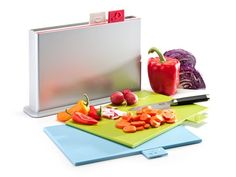 Index Chopping Boards; Neat way to never chop your meats on the same tray as your fruit & veggies & spread germs!