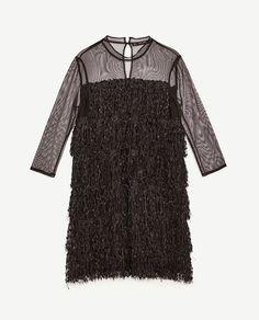 Image 8 of FRINGED DRESS from Zara