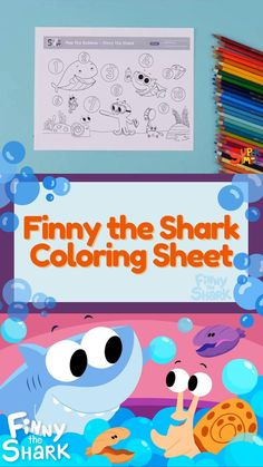 """Get the free printable for the new Finny the Shark video """"Pop The Bubbles!"""" Let's count to ten! Toddler Preschool, Toddler Crafts, Preschool Crafts, Crafts For Kids, Shark Coloring Pages, Coloring For Kids, Coloring Sheets, Toddler Snacks, Baby Led Weaning"""