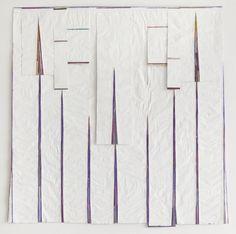 "Célio Braga, ""Purple (Doloridos)"", 2011, Series:  Doloridos, Fragments of textiles, photography and gouache on medicine leaflets, 125 cm x 1..."