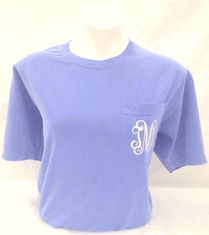 Comfort Colors Pocket T-Shirt with Monogram! - $20  i think i need this