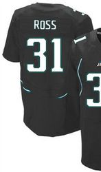 """$78.00--Aaron Ross Black Elite Jersey - Nike Stitched Jacksonville Jaguars #31 Jeresey,Free Shipping! Buy it now:click on the picture, than click on """"visit aliexpress.com"""" In the new page."""