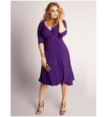 Brand: Igigi    The Francesca dress has a simple a-line shape that can be taken from casual to dressy in minutes! With an empire waist, it's easy to add a sparkly belt and change the whole look!    Colour: Purple (as shown)    Sizes: 14/16 - 22/24    Price: $169.99