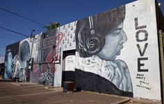 A mural by Roy F. Sproul III at Revolver Records, located at Second and Roosevelt Streets in downtown Phoenix.