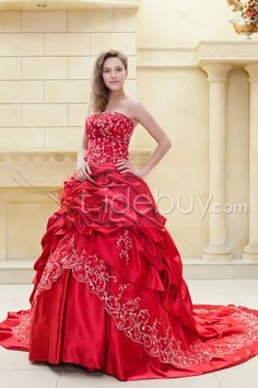 Fabulous Ball Gown Sweetheart Sleeveless Embroidery Ela's Color Wedding Dress