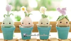 Bulbous flowers - amigurumi dolls (3)