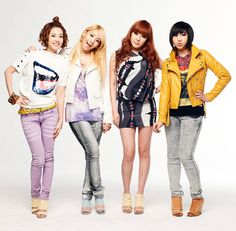 """2NE1: Introduced in a commercial with their labelmate, BIGBANG, with the popular song, """"Lollipop,"""" 2NE1 gained popularity with their unique style. Breaking out of the aegyo songs usually sung by girl groups, they ventured with an 'edgy' look and emphasized a hip hop style."""