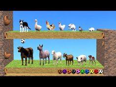 Sonidos de animales para niños / Animales de la granja para niños - YouTube