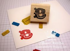 nice people STAMP!: Undefined - Hand Carved Monogram Stamp - Stampin' Up! by Allison Okamitsu