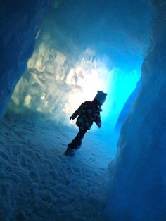 The Ice Castles in Steamboat Springs, CO will capture your imagination as you explore its' 30-foot walls made entirely of ice! Open through March 2013 only! #Colorado #travel