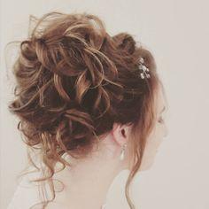 Beautiful wedding hair up Wedding Hair Up, On Your Wedding Day, Bridal Hair, Wedding Hairdressers, Civil Ceremony, Bride Hairstyles, Long Hair Styles, Weddings, Beauty