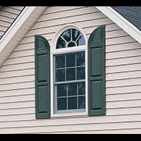 These window shutter accessories are call transom + arch tops ...