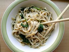 simple miso-tahini sauce for soba noodles