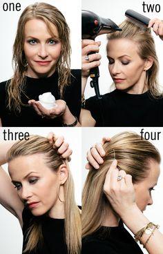 Hair-how to: Slicked back and shiny locks