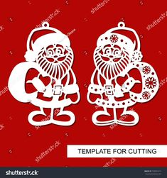 Find Christmas Decoration Santa Claus Template Laser stock images in HD and millions of other royalty-free stock photos, illustrations and vectors in the Shutterstock collection. Thousands of new, high-quality pictures added every day. Xmas Crafts, Felt Crafts, Diy And Crafts, Paper Crafts, Wood Ornaments, Xmas Ornaments, Kirigami, Christmas Activities, Christmas Printables