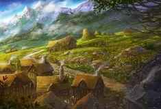 Create Better Games D&D Visual Inspiration Dump in 2020 Fantasy art landscapes Fantasy concept art Fantasy village
