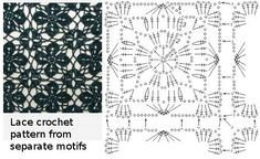 Lace crochet pattern from separate motifs by dimitra.dimitriadou.16