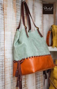 Make Hobo Bag Sac en cuir Aqua sac hobo coloré sac en cuir deux tons