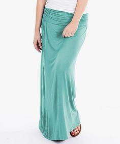 This Seafoam Maxi Skirt is perfect! #zulilyfinds