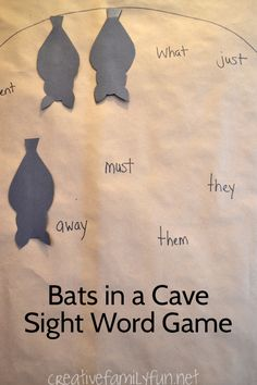 Practice sight words with this fun Bats in a Cave Sight Word Game. It's always fun to move and learn!