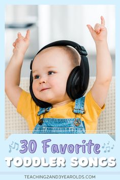 This collection of toddler songs are favorites with teachers, parents, and anyone with young children. Not only are they fun, but they also teach a variety of concepts! #toddler #songs #music #circletime #musicandmovement #playlist #age2 #printable #teaching2and3yearolds Movement Preschool, Preschool Music, Movement Activities, Toddler Preschool, Learning Activities, Preschool Activities, Circle Time Activities, Activities For 2 Year Olds, Toddler Circle Time