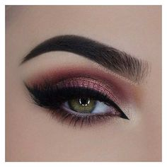 31 Pretty Eye Makeup Looks for Green Eyes ❤ liked on Polyvore featuring beauty products, makeup and eye makeup