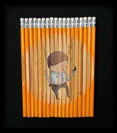 paintings on pencils ghostpatrol