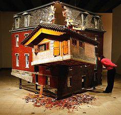 Do Ho Suh's 'Fallen Star.' Photo Getty Art Experience:NYC www.artexperience...
