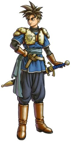 Héroe/Heroína (Dragon Quest X) Character Concept, Character Art, Concept Art, Character Design, Fantasy Characters, Female Characters, Cartoon Characters, Dragon Quest X, Pokemon