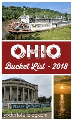 2018 Ohio Bucket List- showcasing the places to visit and explore in Ohio this year! Ohio is full of fantastic attractions for all ages!