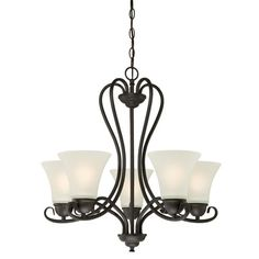 Found it at Wayfair - Dunmore 5-Light Shaded Chandelier