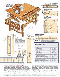 Laptop Desk Plans - Furniture Plans and Projects - Woodwork, Woodworking, Woodworking Plans, Woodworking Projects Intarsia Wood Patterns, Wood Carving Patterns, Brick Patterns, Woodworking Furniture Plans, Woodworking Shop, Diy Furniture, Drawing Desk, Laptop Desk, Wood Projects