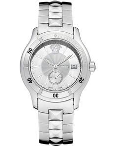 Ρολόι VERSACE Hurricane Silver Stainless Steel Bracelet - ULQ99D498S099 - OROLOI.gr Stainless Steel Bracelet, Michael Kors Watch, Versace, Watches, Bracelets, Silver, Accessories, Wristwatches, Clocks