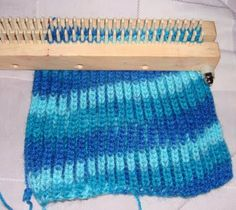 LOOM KNITTING AND SOMETHING ELSE: BABY SWEATER WITH BRIOCHE STITCH