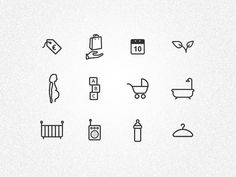 Icons for baby equipment website