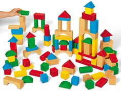 Tabletop Hardwood Blocks - Master Set at Lakeshore Learning