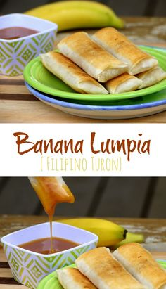 Banana Lumpia {Filipino Turon} - ante mandic - Banana Lumpia {Filipino Turon} Delightfully sweet with a delicate crisp bite, Banana Lumpia [Filipino Turon] is one of the easiest desserts you will ever make. Filipino Dishes, Filipino Desserts, Asian Desserts, Filipino Recipes, Easy Desserts, Asian Recipes, Dessert Recipes, Filipino Food, Lumpia Recipe Filipino