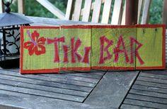 Tiki Bar Sign via Etsy