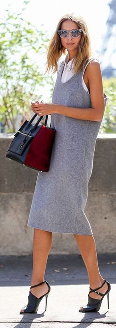 Street Style Denim Inspiration Dress by Coohuco