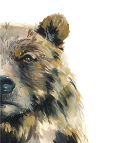 This listing is for an 8x10 print of my original watercolor painting titled Hey Bear. A 1/2 border has been added to accommodate framing. All prints are printed on high-quality cotton rag paper. Prints are packaged in a cellophane sleeve with chipboard backing and mailed in a Kraft StayFlats Mailer to ensure the print does not get crushed. Please note that colors may vary due to monitor settings. If you have any questions feel free to contact me