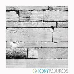 stone, geometric, smooth, angles, lines, black & white, Tony Koukos, Koukos