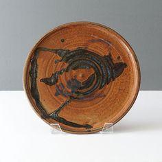 20-492SN-studio-pottery-drip-fat-lava-glaze-platter Ceramic Decor, Platter, Lava, Stoneware, Mid-century Modern, Mid Century, York, Ceramics, Studio