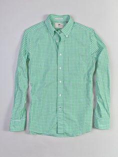 Portland Dry Goods Green Gingham Shirt