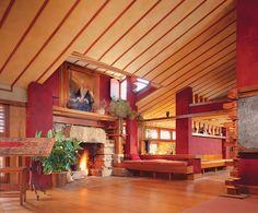 Taliesin. South of Spring Green, Wisconsin. 1911,1914,1925 (remodels after fires). Frank Lloyd Wright's residence and studio