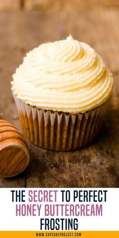 The Secret to Perfect Honey Buttercream Frosting Honey Recipes, Baking Recipes, Sweet Recipes, Baking Tips, Baking Secrets, Bread Baking, Nutella Recipes, Baking Hacks, Frosting Recipes
