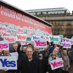 Yes Scotland today launched the first in a series of major campaigns in 2013 with a rallying call for Scots to 'put their hands up for a better Scotland'.     The Hands Up for a Better Scotland campaign launched in Glasgow's George Square earlier today.    www.yesscotland.net/hands_up_for_better_scotland_campaign