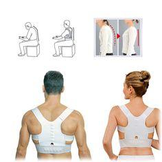 Weg met die nek- en rugklachten voor maar €9,95! Houdingsondersteuning voor je rug. Zorgt voor een goede houding van je rug. Geen last meer van je nek of schouders. Je bent langer, slanker en zelfverzekerder Incl. 12 magneten voor magnetische therapie Comfortabel en onzichtbaar onder je kleding Verstelbare band; one size fits all Gratis verzending Binnen 1 á 2 werkdagen thuisbezorgd
