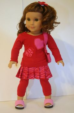 Dacia makes some awesome outfits--Hearts Delight collection  Red and Pink outfit by MiniMeDollyDivas, $25.00