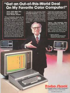 Star power: Sci-fi writer Isaac Asimov was another well-known spokesman for Radio Shack in the 1980s    Read more: http://www.dailymail.co.uk/news/article-2123460/When-computers-sexy-Hilarious-vintage-ads-early-days-PC.html#ixzz1qrcHJ32y